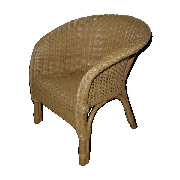fauteuil en osier pour enfant rotin et osier marron. Black Bedroom Furniture Sets. Home Design Ideas