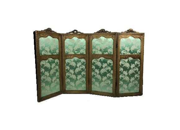 Paravent à 4 panneaux en bois sculpé de style Louis XVI époque XIXe siècle