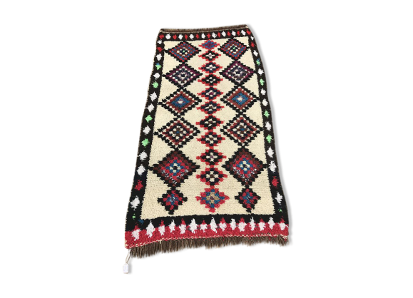 tapis berb re marocain 176x90cm tissu multicolore bon tat thnique. Black Bedroom Furniture Sets. Home Design Ideas