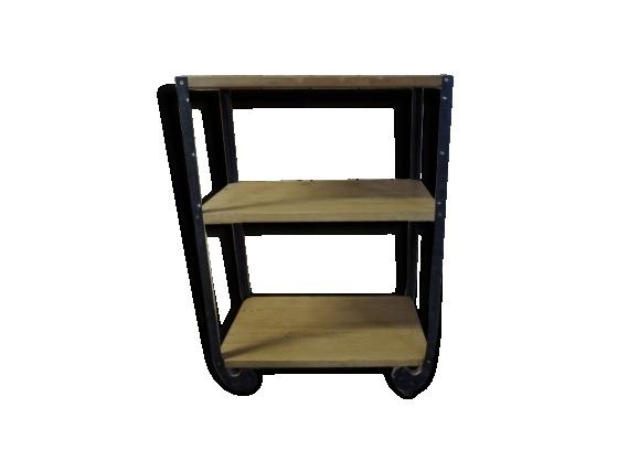 Petite console en bois et métal