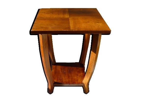 Table d'appoint art deco en bois pieds galbés 1930s