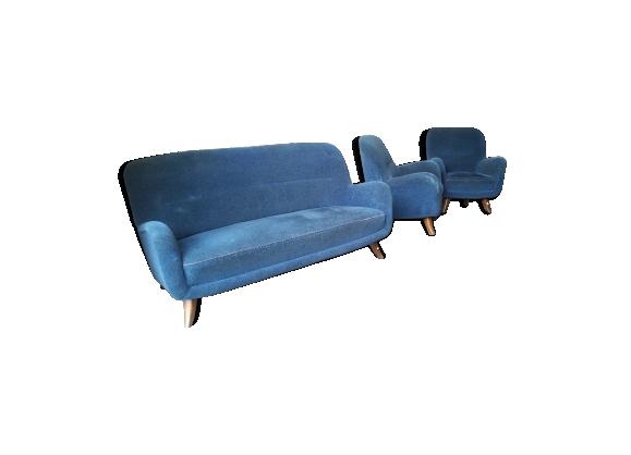 Set Canapé et 2 fauteuils années 50/60