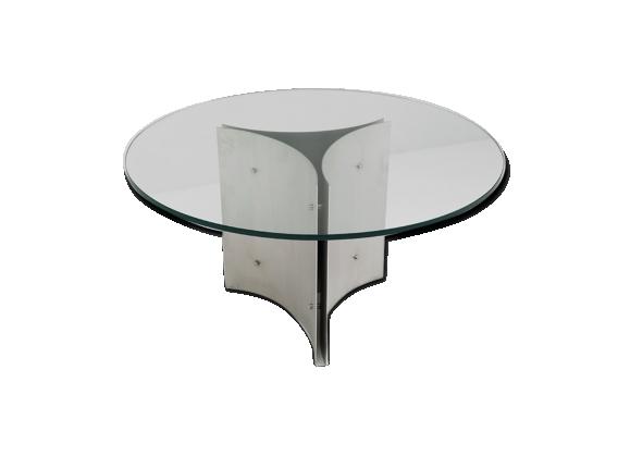 table ronde verre. Black Bedroom Furniture Sets. Home Design Ideas