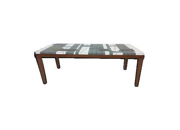 Table basse mosaïque en verre par Heinz Lilienthal 1960s