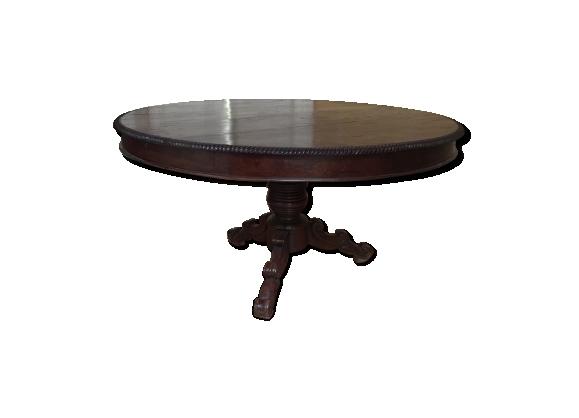 Table ronde de salle à manger en bois massif