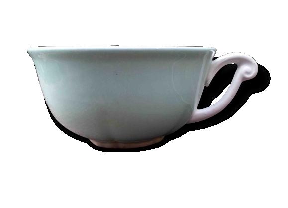 Petite tasse à café vert céladon années 50
