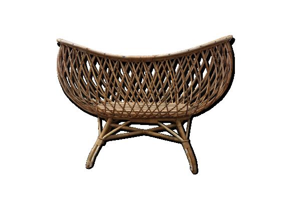 berceau rotin vintage rotin et osier bois couleur bon tat vintage. Black Bedroom Furniture Sets. Home Design Ideas