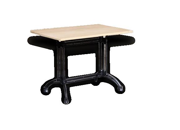 table bistrot en ch ne massif et pi tement en fonte bois mat riau bois couleur bon. Black Bedroom Furniture Sets. Home Design Ideas
