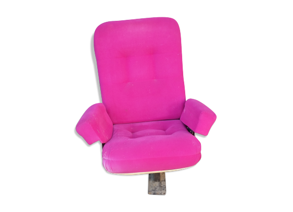 fauteuil de cin ma ann es 70 80 tissu rose dans son. Black Bedroom Furniture Sets. Home Design Ideas