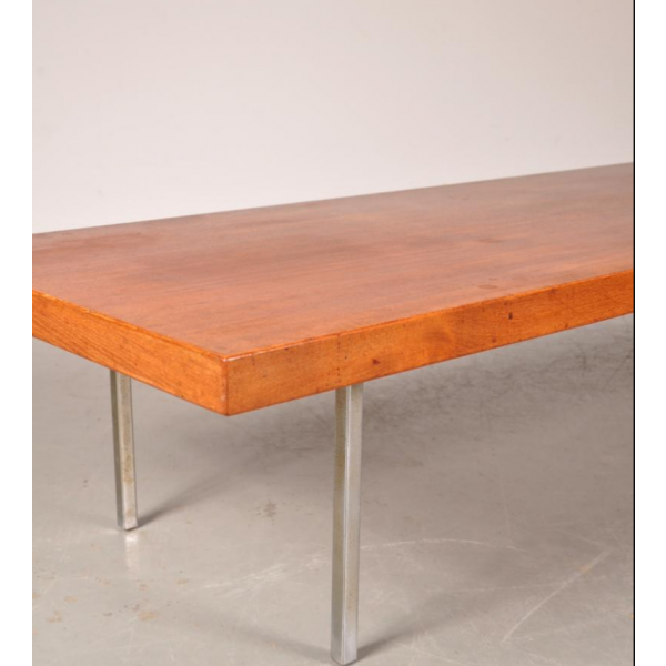 table basse en teck et en chrome par kho liang ie for artifort 1960s teck marron bon tat. Black Bedroom Furniture Sets. Home Design Ideas