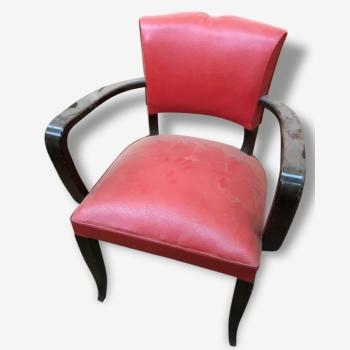 fauteuil steiner boo wood bois mat riau bon tat vintage 12425. Black Bedroom Furniture Sets. Home Design Ideas