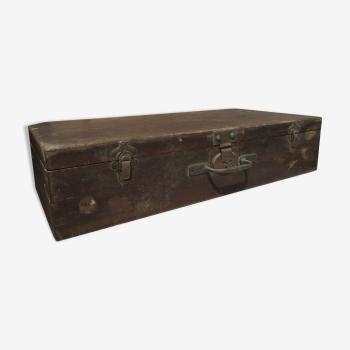 Valise bo te chapeau vintage d 39 occasion - Valise en bois ancienne ...