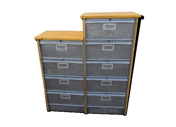 meuble vintage industriel. Black Bedroom Furniture Sets. Home Design Ideas