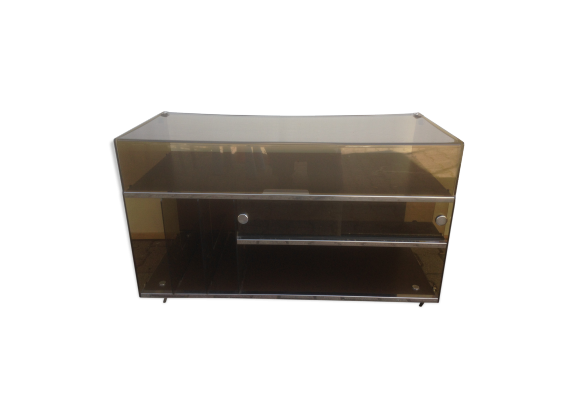 meuble hifi platine vinyle plexiglass ann e 70 vintage. Black Bedroom Furniture Sets. Home Design Ideas