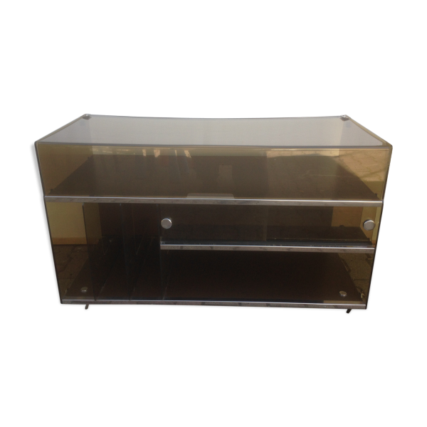 meuble hifi platine vinyle plexiglass ann e 70 vintage plexiglas transparent bon tat. Black Bedroom Furniture Sets. Home Design Ideas