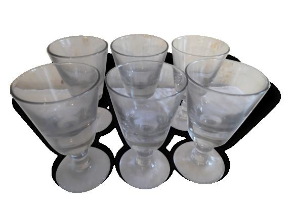 Verres bistrot anciens fond tr s pais verre et cristal transparent dans son jus - Protege table transparent epais ...