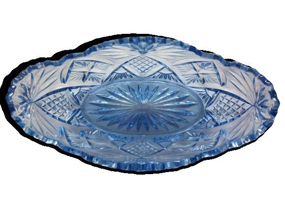 Coupe en verre bleu
