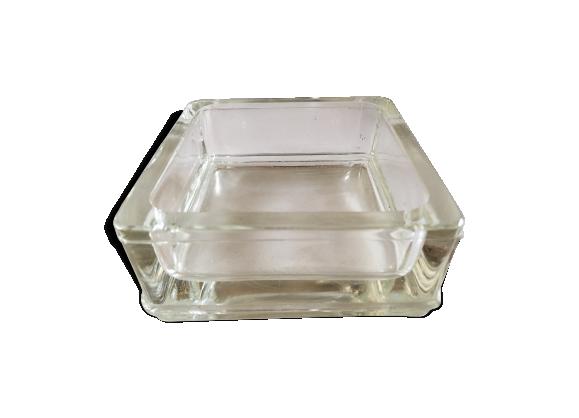 cendrier lumax le corbusier verre et cristal transparent dans son jus industriel. Black Bedroom Furniture Sets. Home Design Ideas