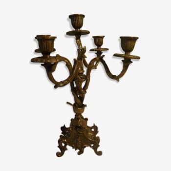 bougeoir et chandelier vintage d 39 occasion. Black Bedroom Furniture Sets. Home Design Ideas
