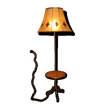 Lampadaire tripode avec tablette – Vintage – Années 50/60