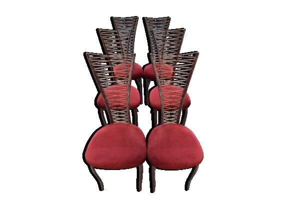 Ensemble de 6 chaises dans l'esprit du design italien des années 50