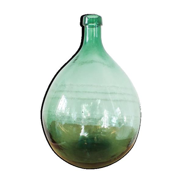 dame jeanne vert clair 10 litres verre et cristal vert bon tat vintage. Black Bedroom Furniture Sets. Home Design Ideas