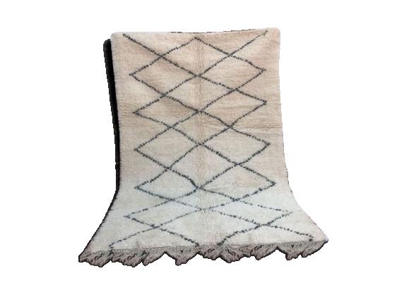 tapis berb re beni ouarain 220x137cm tissu multicolore bon tat thnique. Black Bedroom Furniture Sets. Home Design Ideas