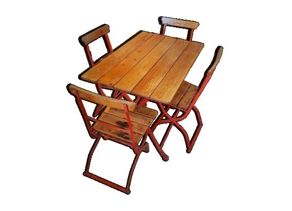 Chaises bois fer for Chaise fer forge et bois