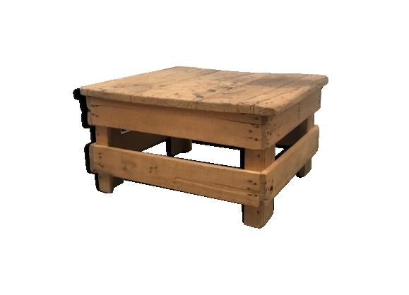 Table basse industrielle bois
