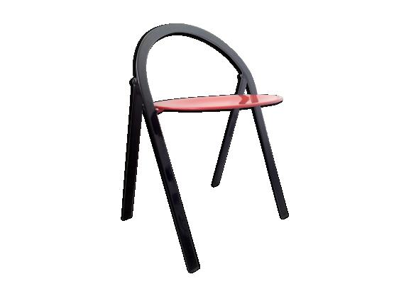 cidue chaise vintage pliable design italien m tal. Black Bedroom Furniture Sets. Home Design Ideas
