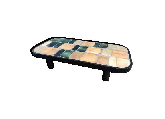 table basse roger capron ann es 60 bois mat riau bois couleur bon tat design. Black Bedroom Furniture Sets. Home Design Ideas