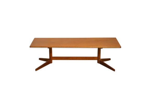 Table basse scandinave en teck teck bois couleur for Table scandinave en teck