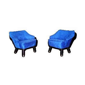 1/2 fauteuil cocktail organique années 50 60