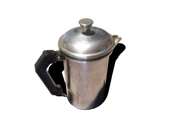 Cafetière à piston métal argenté