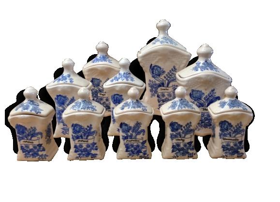 Série de dix pots à épices
