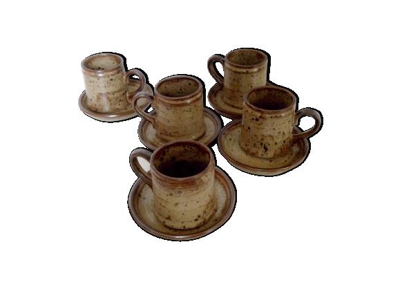 Set de tasses de Grès Rocaille du Japon