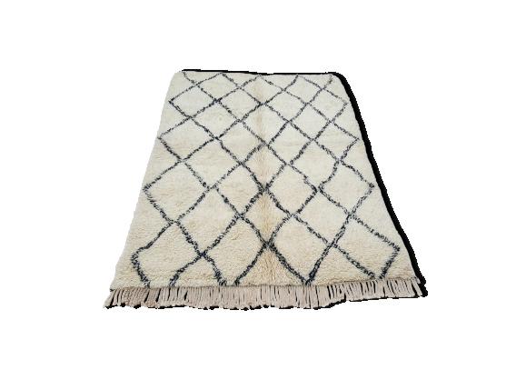 tapis marocain beni ouarain tiss la main 300x190 cm tissu multicolore bon tat. Black Bedroom Furniture Sets. Home Design Ideas