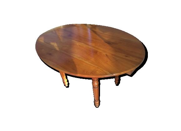 Table ovale en merisier époque Louis Philippe