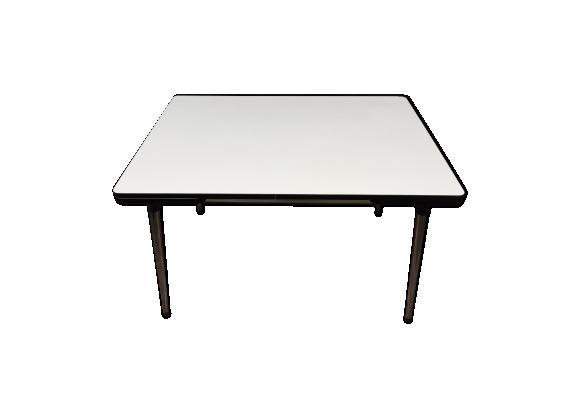 table en formica avec rallonges ann es 60 70 formica blanc bon tat vintage. Black Bedroom Furniture Sets. Home Design Ideas