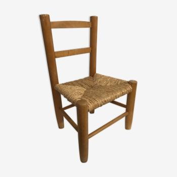 Mobilier et d coration enfants vintage d 39 occasion for Chaise en bois pour enfant
