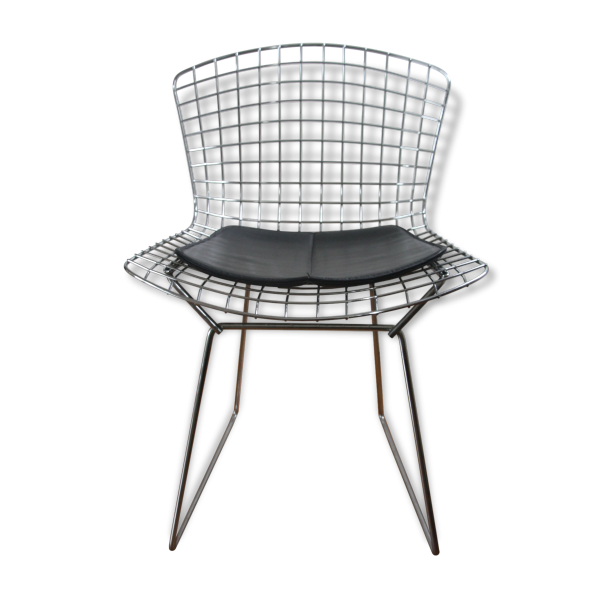 Chaise bertoia pour knoll ann es 50 60 m tal argent for Adaptateur chaise pour bb