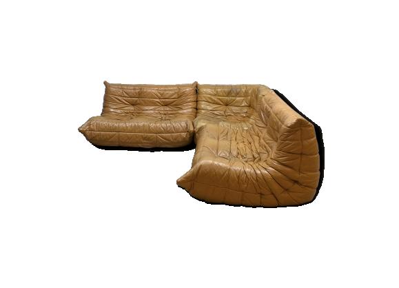 Canap cuir vintage - Housse togo ligne roset ...