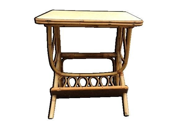 table chevet rotin. Black Bedroom Furniture Sets. Home Design Ideas