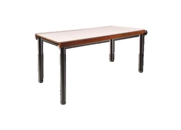 Table de salle manger blanche en weng bois mat riau bois couleur - Salle a manger wenge ...