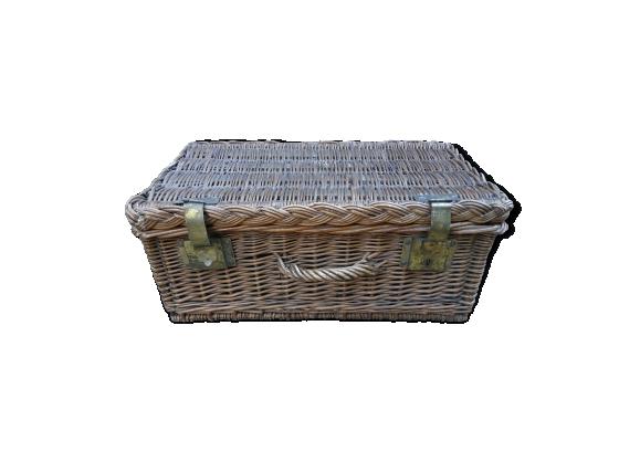 Ancienne valise en osier