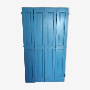 Série de 4 volets portes boiseries bois peint époque 1930/40