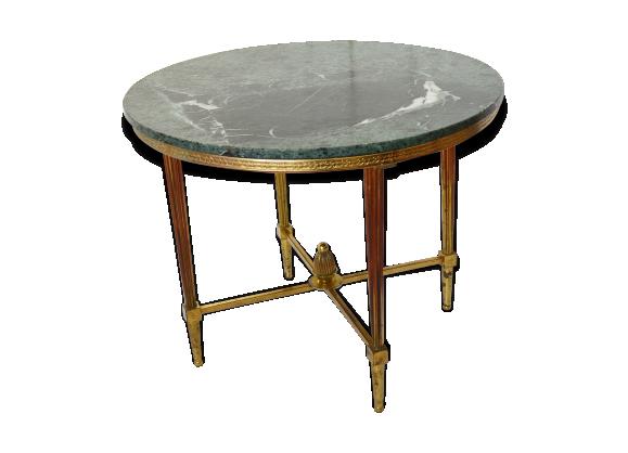 table basse gu ridon marbre vert ann es 60 vintage marbre vert bon tat classique. Black Bedroom Furniture Sets. Home Design Ideas