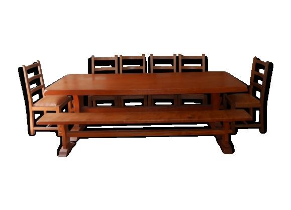 Grande table de salle à manger + banc
