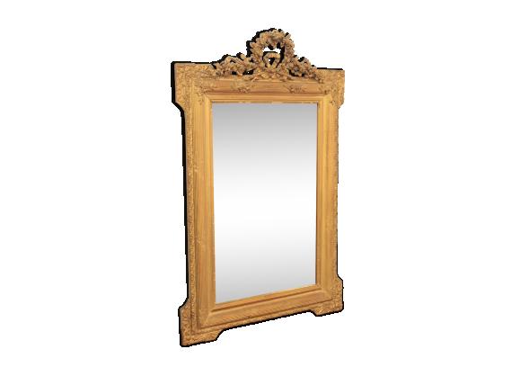 Miroir napol on iii verre et cristal dor dans son for Miroir napoleon