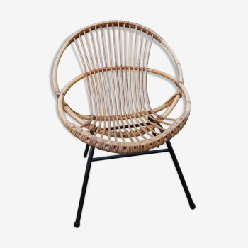 Fauteuil coquille vintage